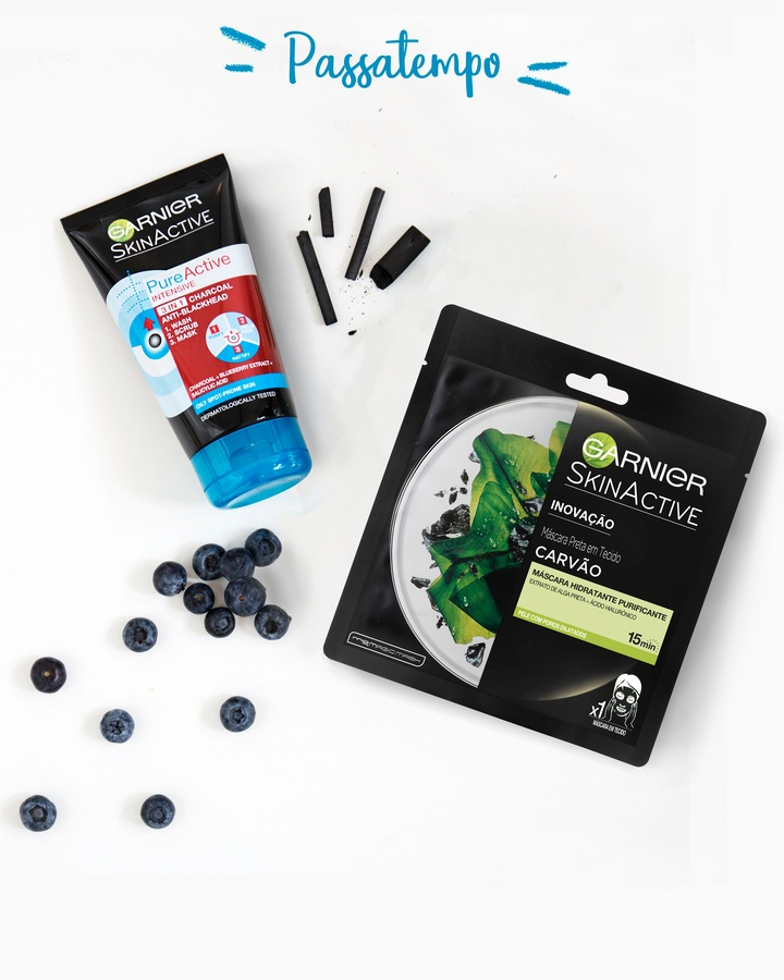 Garnier Tissue Mask Pure Charcaol Black Algae Purifying & Hydrating Pore-Tightening 32ml