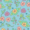 Tweezerman Mini Slant Tweezer Vintage Floral Blue