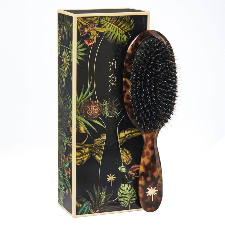 Fan Palm Boar & Nylon Brush Turtle Medium
