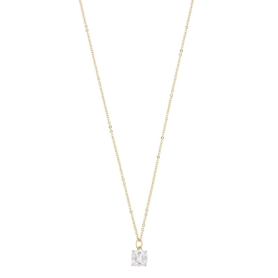 Snö of Sweden Camille Stone Pendant Necklace Gold/Clear 50 cm