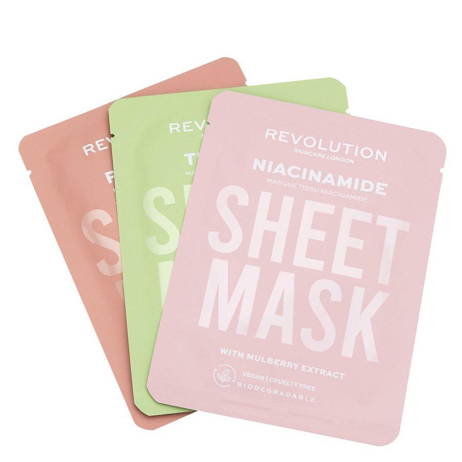 Revolution Beauty Revolution Skincare Biodegradable Oily Skin Sheet Mask 3 st