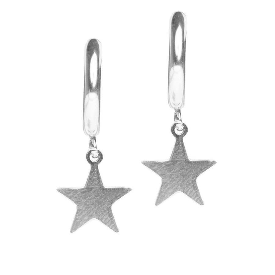 DARK Star Hoop Silver