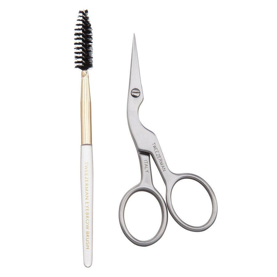 Tweezerman Browshaping Scissors And Brush