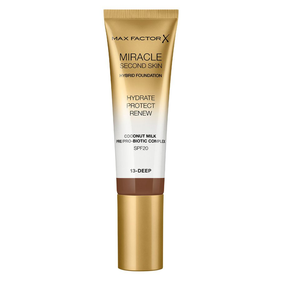Max Factor Miracle Second Skin Foundation - #013 Deep 33ml