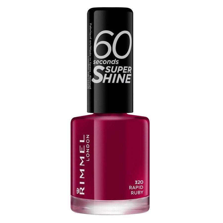 Rimmel London 60 Seconds Super Shine Nail Polish #320 Rapid Ruby 8ml
