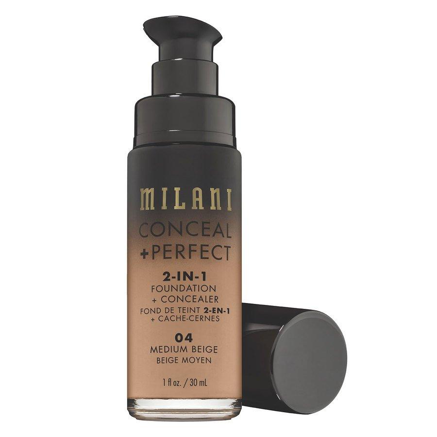 Milani Conceal & Perfect 2 In 1 Foundation + Concealer Medium Beige 30 ml