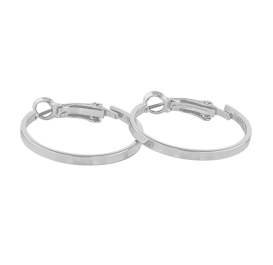 Snö of Sweden Moe Ring Earring Plain Silver 25 mm
