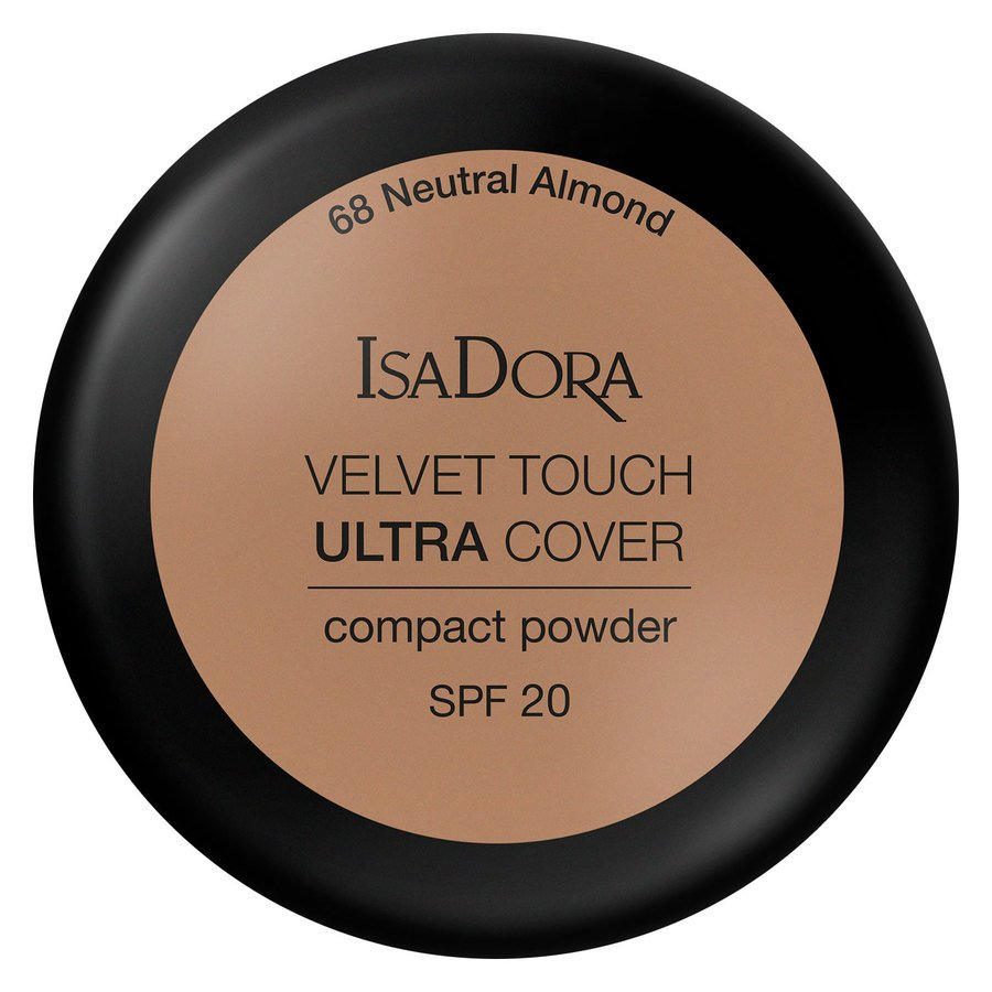 IsaDora Velvet Touch Ultra Cover Compact Powder SPF20 68 Neutral Almond 7,5g