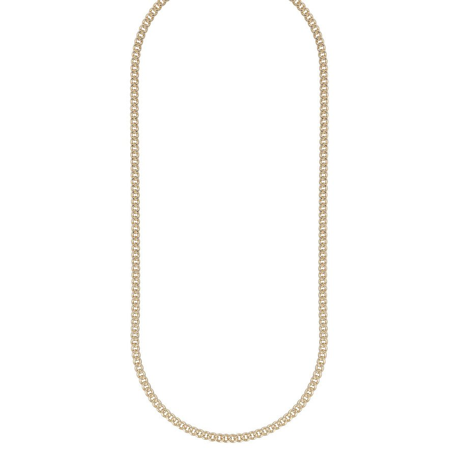 Snö of Sweden Chase Brad Small Necklace 50 Plain Gold