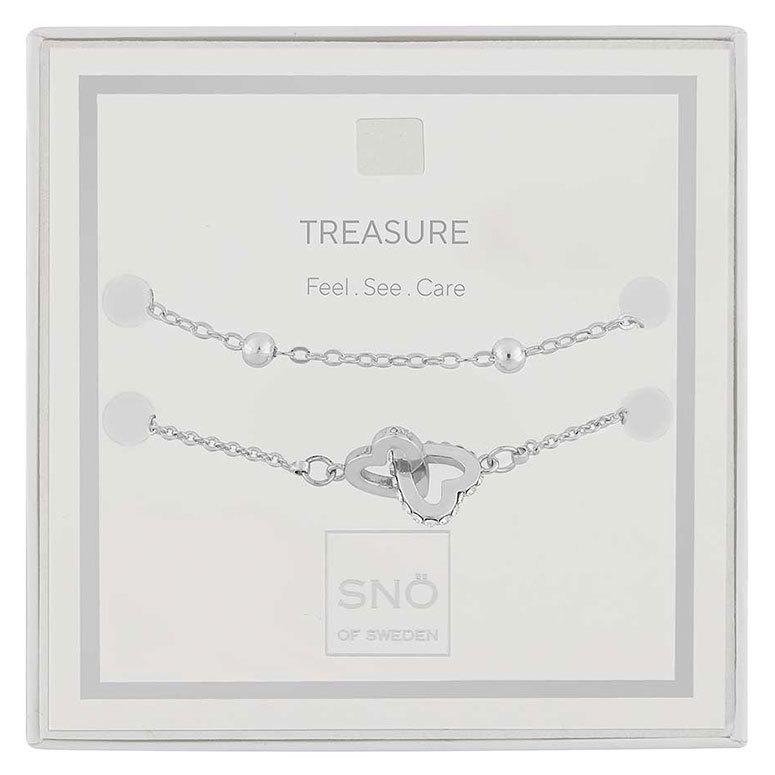 Snö of Sweden Valentine Treasure armbandsset Silver/Clear