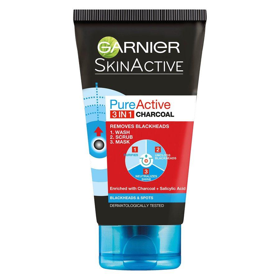 Garnier PureActive Intensive Charcoal 3-in-1 150ml