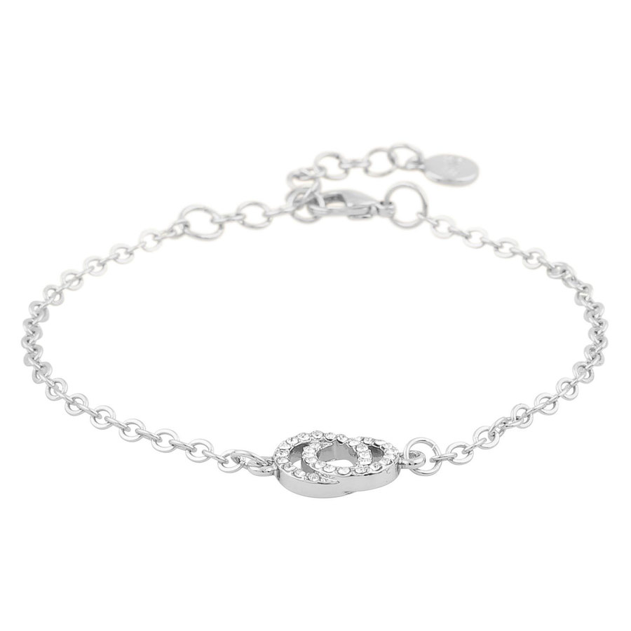 Snö of Sweden Francis Chain Bracelet Silver/Clear 16–17 cm