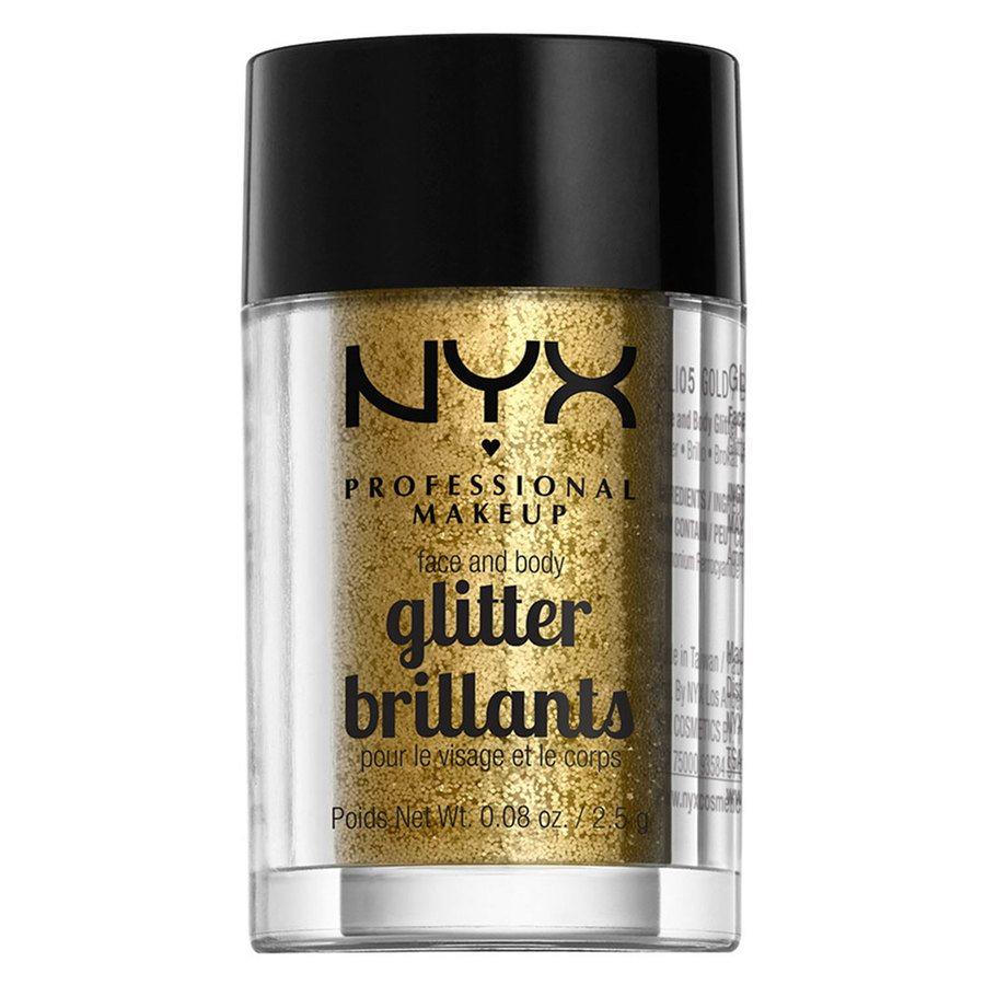 NYX Professional Makeup Face And Body Glitter Brilliants Gold GLI05 2,5 g