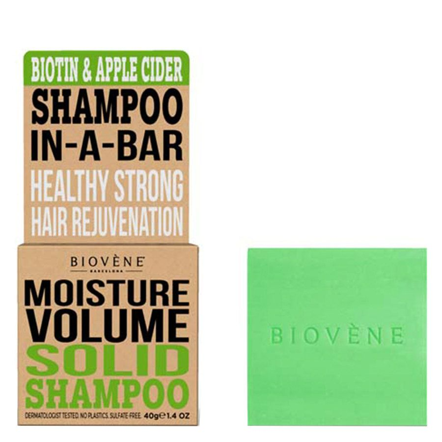 Biovène Hair Care Shampoo Bar Moisture Volume Biotin & Apple Cider 40 g