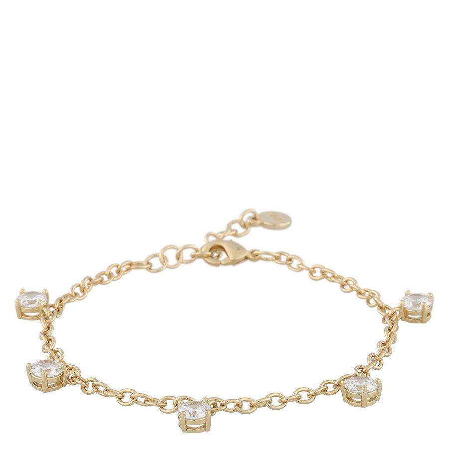 Snö of Sweden Luire Stone Charm Bracelet Gold/Clear
