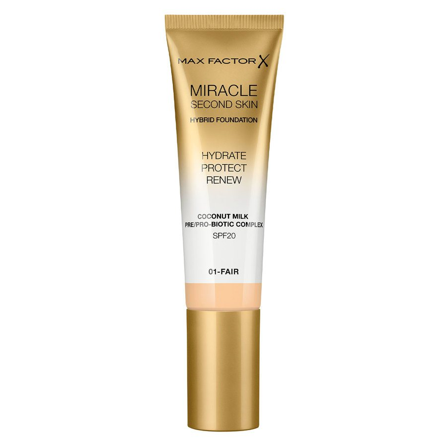 Max Factor Miracle Second Skin Foundation - #001 Fair 33ml