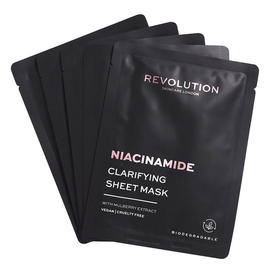 Revolution Beauty Revolution Skincare Biodegradable Clarifying Niacinamide Sheet Mask 5 st