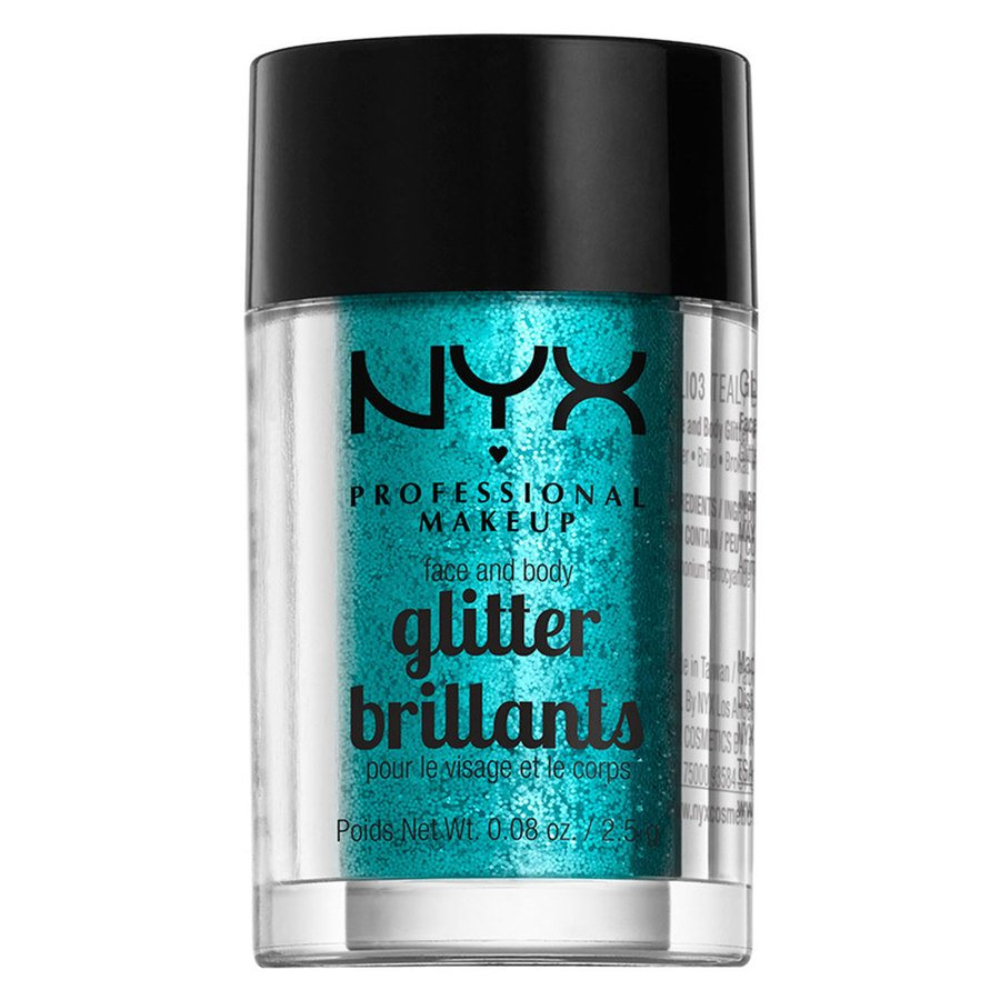 NYX Professional Makeup Face and Body Glitter Teal GLI03 2,5 g