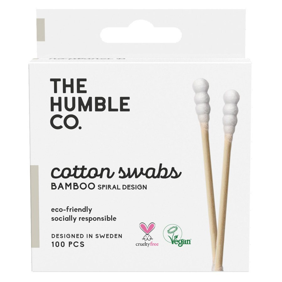 The Humble Co Humble Natural Spiral Cotton Swabs White 100 st.