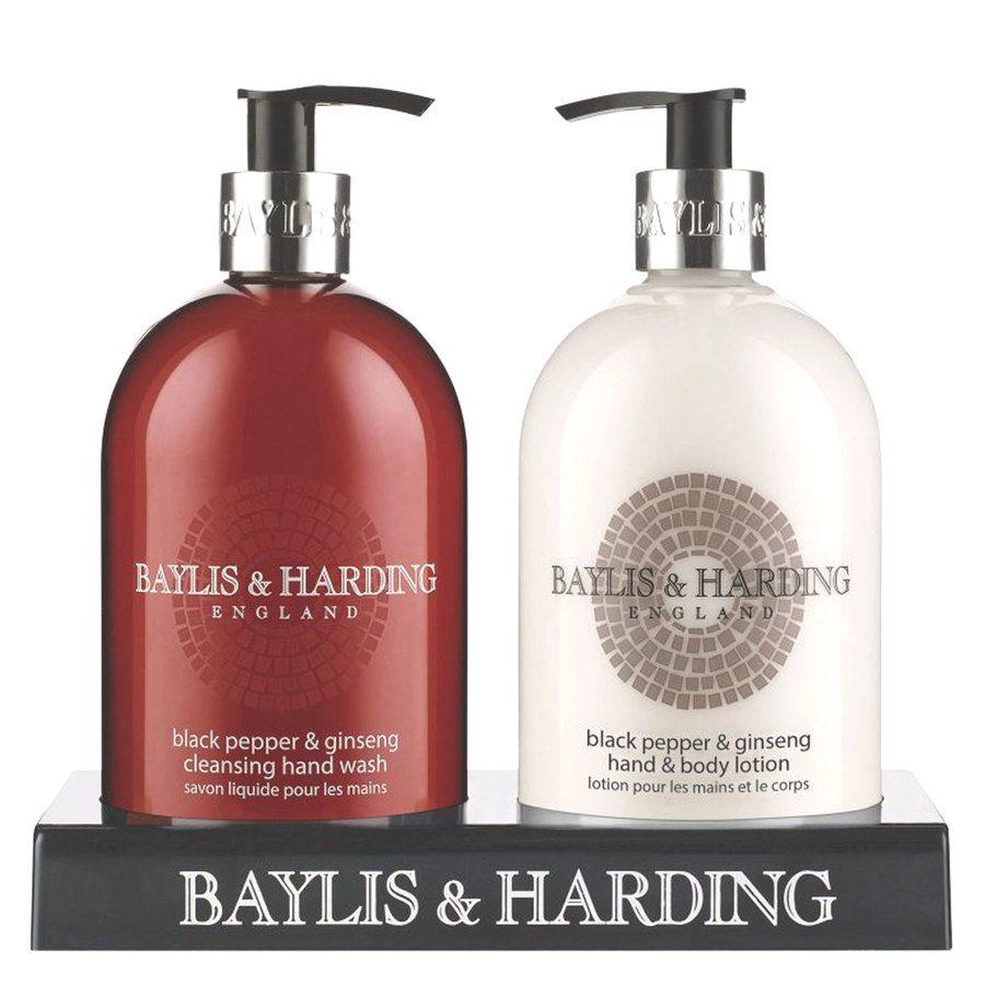 Baylis & Harding Black Pepper & Ginseng Hand Wash 500 ml och Hand & Body Lotion 500 ml