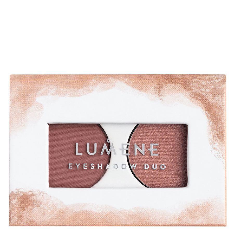 Lumene Bright Eyes Eyeshadow Duo 3,2 g ─ 3 Rosy Twilight