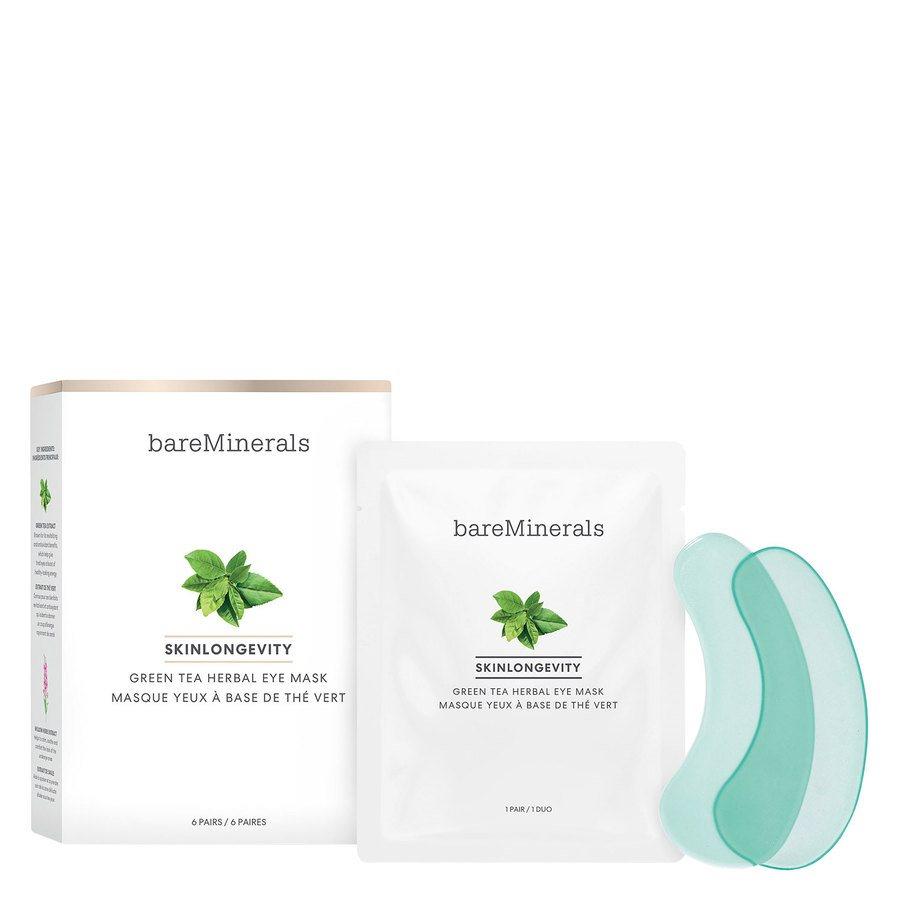 BareMinerals Skinlongevity Green Tea Herbal Eye Mask 6 par