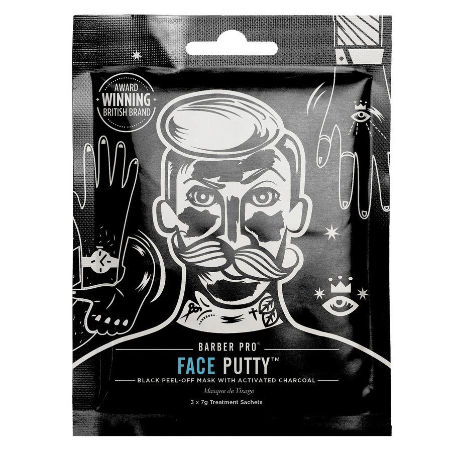 Barber Pro Face Putty Peel-Off Mask 3-in-1
