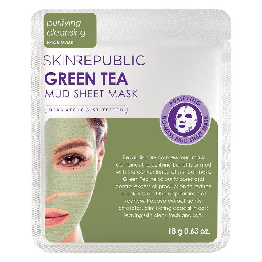 Skin Republic Green Tea Mud Sheet Face Mask 18 g