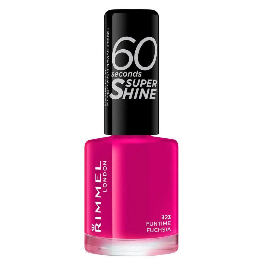 Rimmel London 60 Seconds Super Shine Nail Polish #323 Funtime Fuchsia 8ml