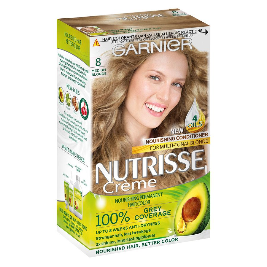 Garnier Nutrisse Cream Medium Blond 8