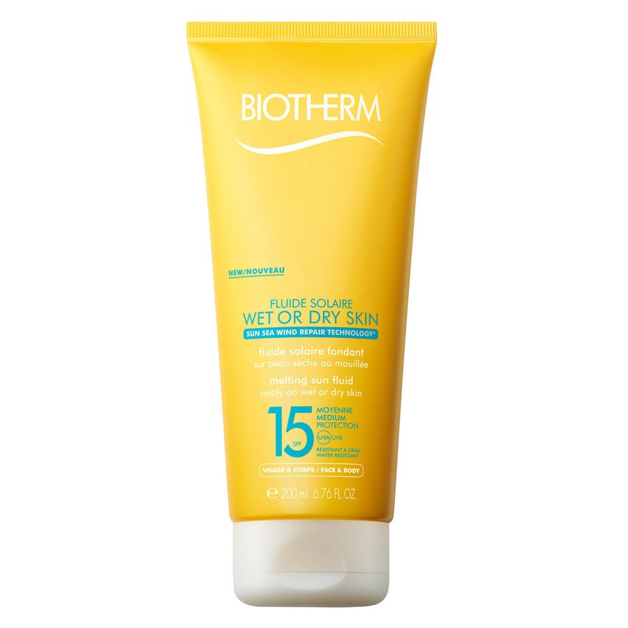 Biotherm Fluide Solaire Wet Or Dry Skin Melting Sun Fluid SPF 15 200 ml