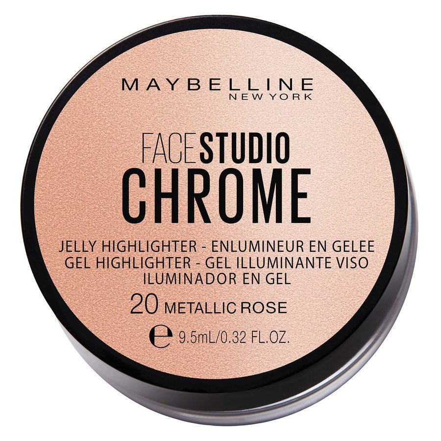 Maybelline Chrome Jelly Highlight #20 Metallic Rose 9,5 ml