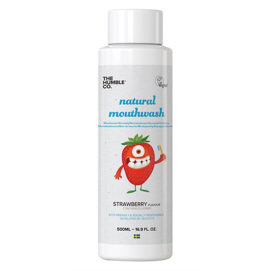 The Humble Co Humble Natural Mouthwash Kids Strawberry 500 ml
