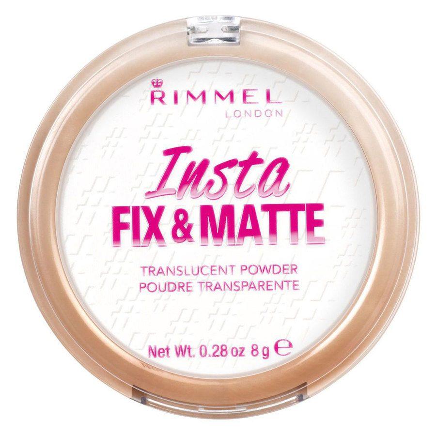 Rimmel London Insta Fix And Matte Powder #001 Translucent 8 g