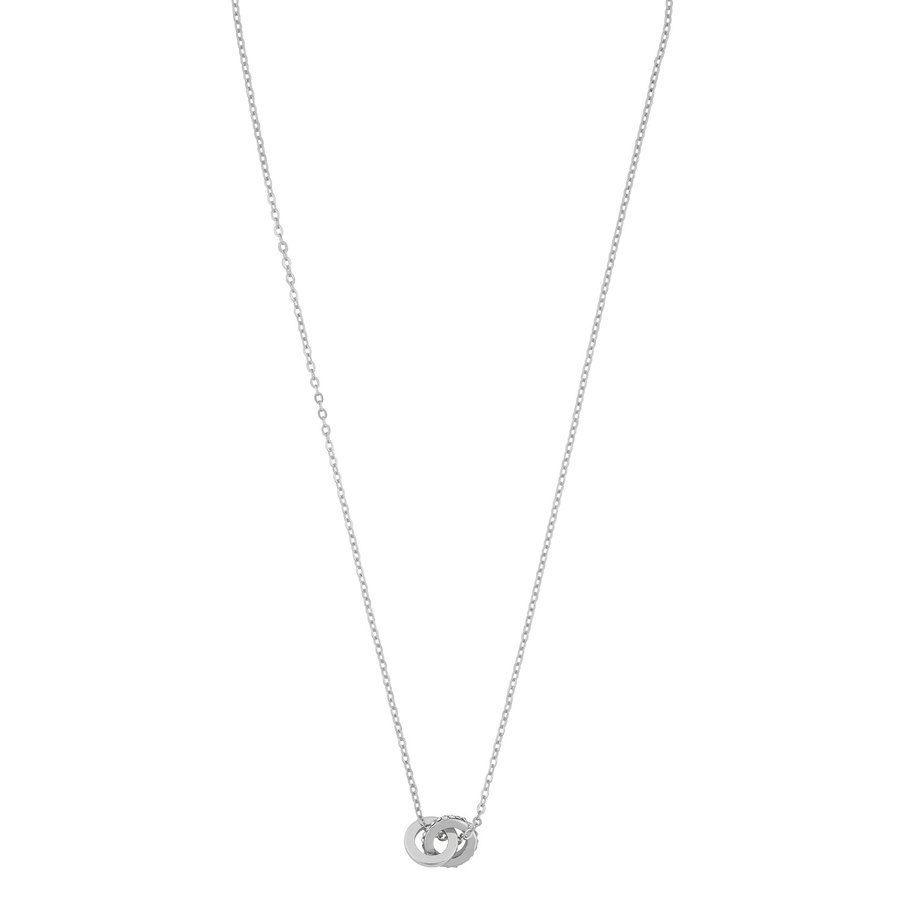 Snö of Sweden Connected Pendant Necklace Silver/Clear 42 cm