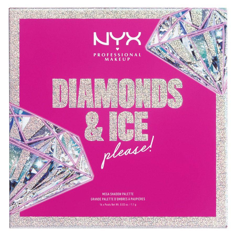 NYX Professional Makeup Xmas Diamonds & Ice 16 Pan Shadow Palette 16 x 1,1 g