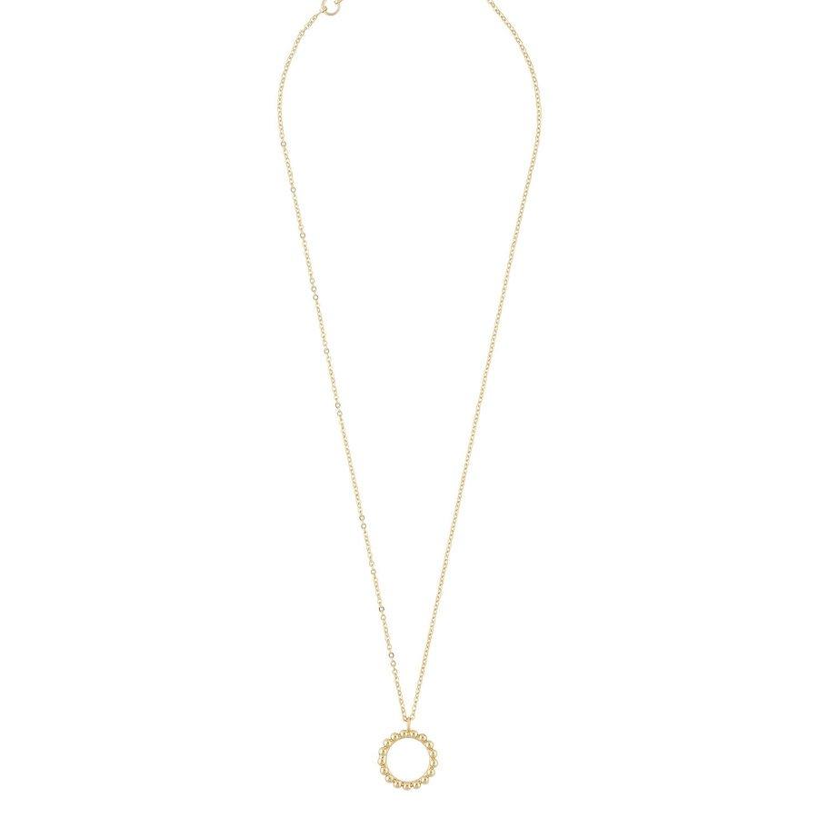 Snö of Sweden Point Pendant Necklace Plain Gold 42 cm