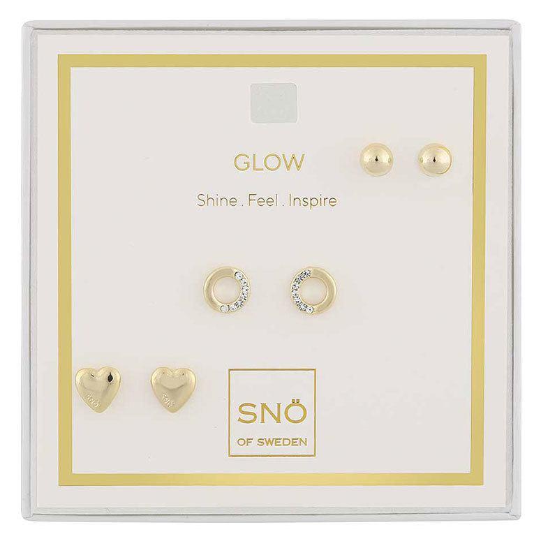 Snö of Sweden Valentine Glow örhängen Gold/Clear