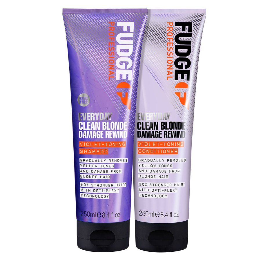 Fudge Everyday Clean Blonde Damage Rewind Violet Toning Duo 2 x 250 ml