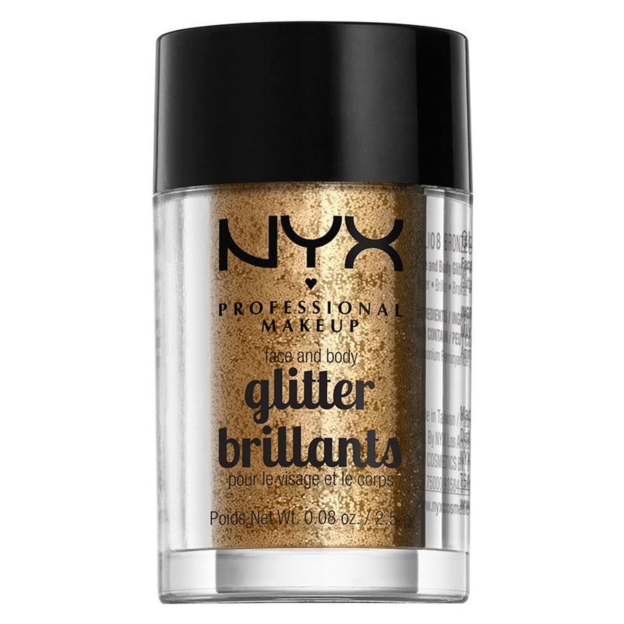 NYX Professional Makeup Face And Body Glitter Brilliants Bronze GLI08 2,5 g