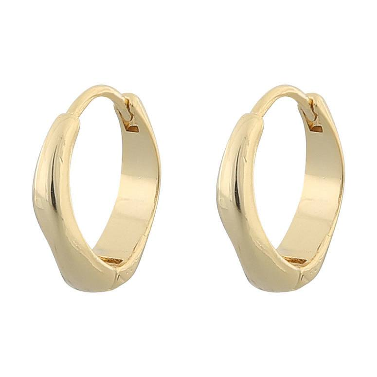 Snö of Sweden Blanche Oval Earring Plain Gold