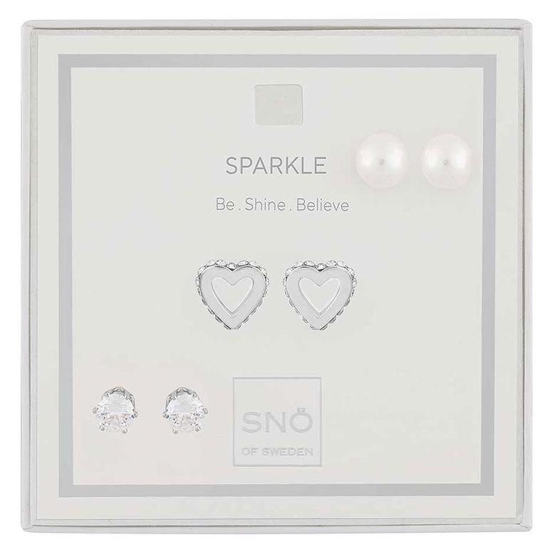 Snö of Sweden Valentine Sparkle örhängen Silver/Clear