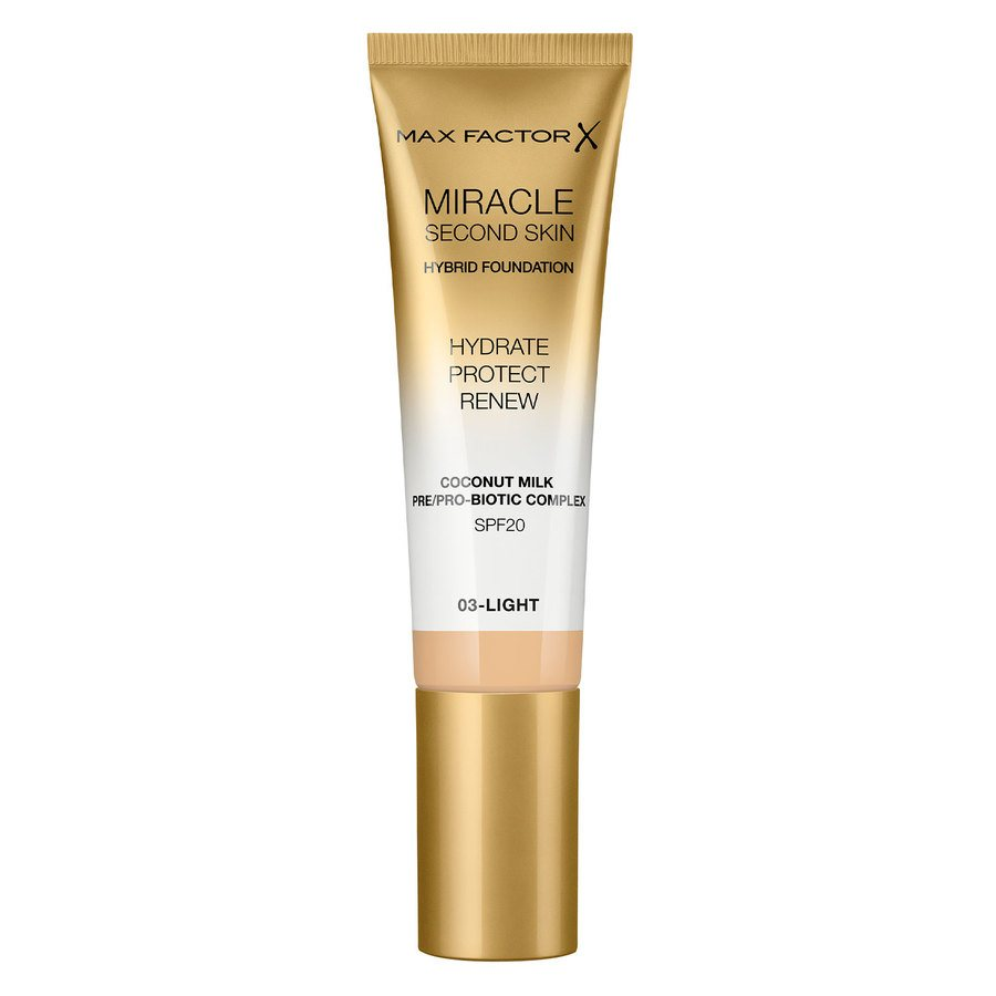 Max Factor Miracle Second Skin Foundation - #003 Light 33ml