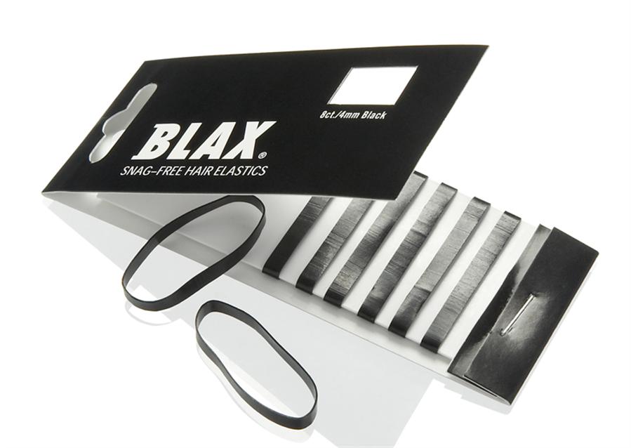 Blax Snag-Free Hair Elastics 4mm 8pcs Black