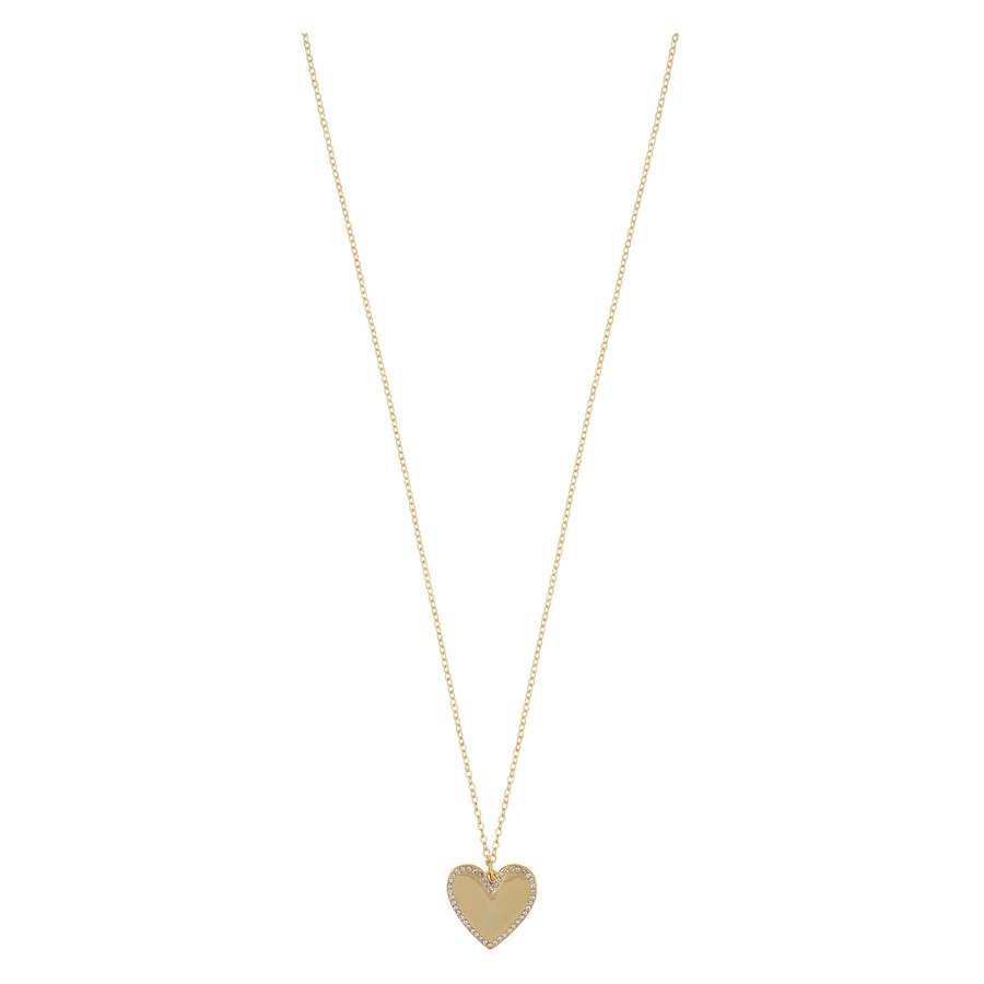 Snö of Sweden Mii Stone Pendant Necklace 42 cm Gold/Clear