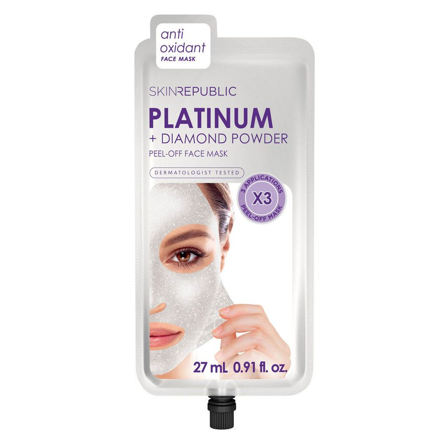 Skin Republic Platinum Peel-Off Face Mask 3 Masks