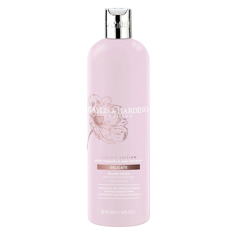 Baylis & Harding Pink Magnolia & Pear Blossom Moisturizing Shower Cream 500 ml
