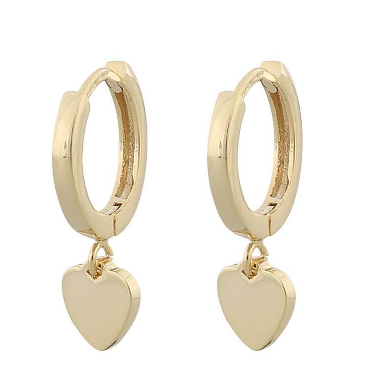 Snö Of Sweden Vital Small Ring Earring Plain Gold 21 mm