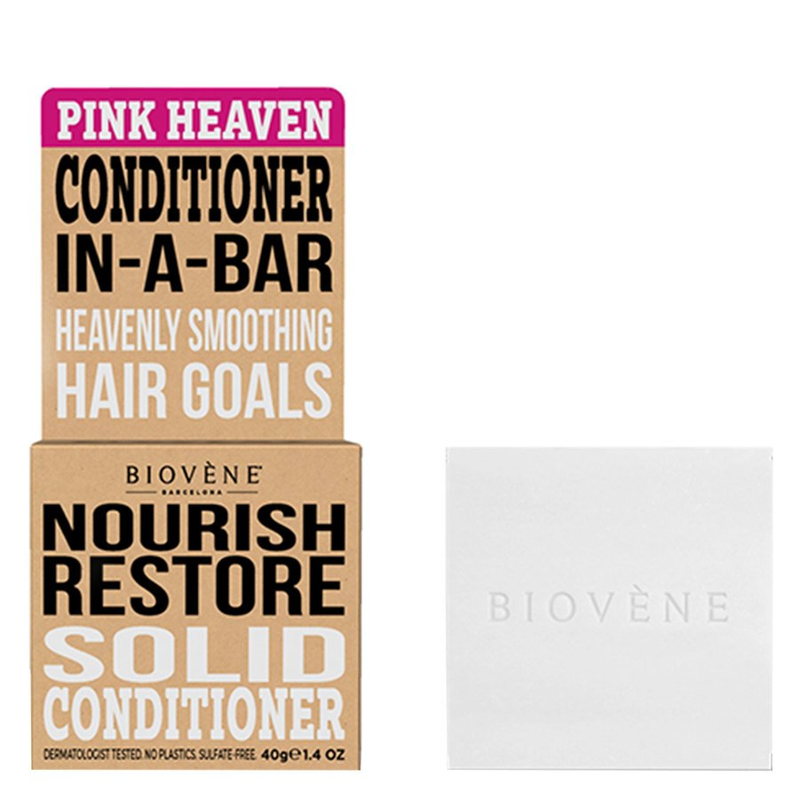 Biovène Hair Care Conditioner Bar Nourish Restore Pink Heaven 40 g