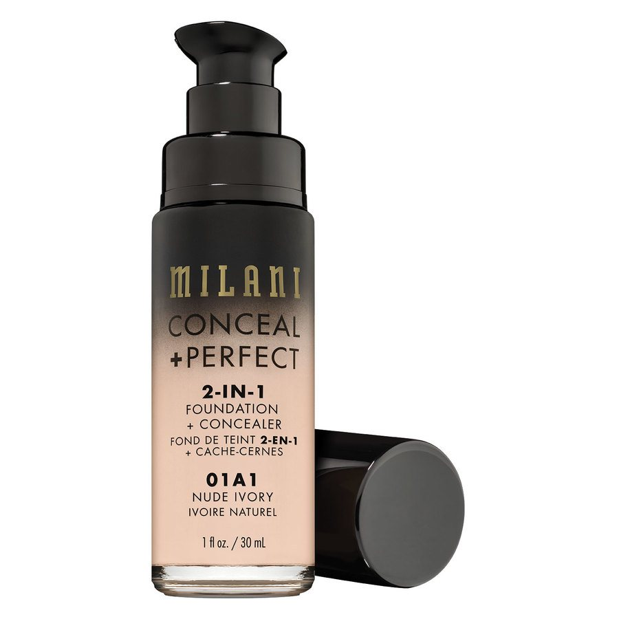 Milani Conceal & Perfect 2 In 1 Foundation + Concealer Nude Ivory 30ml